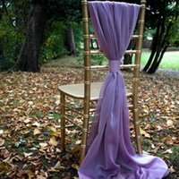 Wholesale ivory burgundy chair covers for sale - Group buy Ivory White Flowy Chiffon Wedding Chair Sashes Custom Made Celebration Birthday Party Event Decor Chair Bows Chair Covers cm