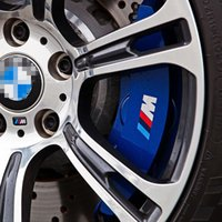 Wholesale Bmw Wheel E39 - 6PCS M Power Performace Brake Caliper Vinyl Decal Stickers M Logo Wheel Race Trim Sticker For BMW 1 3 5 Series E46 E39 E90 F30 F10 F20