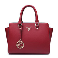 Wholesale Genuine Red Leather Handbags - Genuine Leather Shoulder Bags Women Crossbosy Bags Totes Fashion For Elegant Lady Handbags Black Red Bags Wholesale