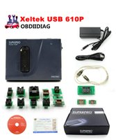 Wholesale Ecu Programmer For Benz - Original Xeltek USB Superpro 610P Universal Programmer Xeltek 610P Xeltek Superpro Programmer Fast Shipping with 13pcs Adapters