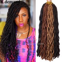 Wholesale Cheap Braiding Prices - 20inch Newest 100G Fauc locs Crochet Braids Freetress Black Blonde Color Cheap Factory Price High Quqality Synthetic Hair Extenti