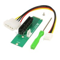 Wholesale express slot adapter for sale - Group buy M2 to PCI e x Slot Card Adapter NGFF M M Key Male to PCI Express x4 Slot Converter with Power Cable