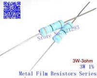 Wholesale Resistor Metal Film Ohm - Wholesale- 3W Metal Film Resistors 3 ohm + - 1%   3w 3R Color ring resistance (20pieces)