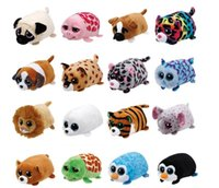 Wholesale tsum plush - 2017 23 Styles New Tsum Tsum Ty Original Teeny Tys Mabs Giraffe Plush Toy 10cm Stuffed Animal Doll Cute Kids Toy Gift Phone Screen Cleaner