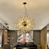 feuerwerk leben großhandel-Kreative Löwenzahn Kronleuchter Feuerwerk LED-Licht Zweig Pendelleuchten Industrielle Retro Leuchten Leuchte für Esszimmer Foyer Wohnzimmer