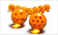 Wholesale Kids Resin Crafts - Pearl Dragon Ball Resin Crafts Sphere Seven Planet Balls Translucent Dragon Action Figures Cartoon Accessories Gifts For Children 33mj H1