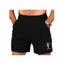 """Wholesale Inseam Length - Wholesale- Mens Gyms Shorts With Pockets Bodybuilding Clothing Male Golds Athlete Fitness Bermuda Weight Lifting Workout Cotton 5"""" Inseam"""