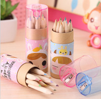 Wholesale Girl Pencils - 20sets lot Constellation Girl Painting Stationary school Supplies lapis de cor 12 Colors HB Drawing Writing Wooden color Pencils