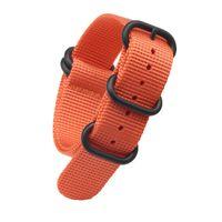 relojes de calidad naranja al por mayor-10 unids / lote Naranja Caqui Azul Niza Calidad Nylon Nato Zulu Correa de la correa para Panerai Reloj con 5 anillos 18 mm 20 mm 22 mm 24 mm Envío gratis