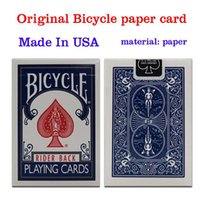 Wholesale Bicycle Playing Cards Free Shipping - Original Bicycle Poker 1 pcs Blue or Red Regular Bicycle Playing Cards Rider Back Standard Decks Magic Trick Free Shipping