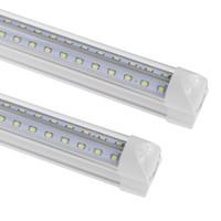 2 lampes fluorescentes achat en gros de-Le tube en forme de V de LED 2FT 3FT 4FT 5FT 6FT 8FT intègrent la lumière de tube de LED Les ampoules d'énergie SMD2835 ont mené les lumières fluorescentes à CA 85-265V