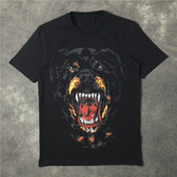 Wholesale Dog Shirt Woman - Wholesale-2016 high quality new fashion Rottweiler dog print famous luxury brand given tee t shirts for men women cotton designer t shirts