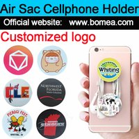 Wholesale Mobile Phones Logo - pop up cell phone holder hands universal for apple iphone6 7 8 smarphone tablet mobile cellphone mount stand with retail package custom logo