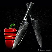Wholesale Damascus Steel Chef Knives - D062 FINDKING new VG10 handle damascus knife 8 inch chef knife 71 layers damascus steel kitchen knives cooking tools