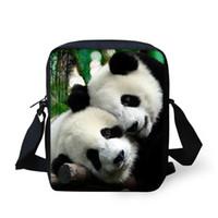 Wholesale Travel Bag Panda - Wholesale-FORUDESIGNS Cute Women Girls Student Messenger Bag Cute Single Shoulder Panda Crossbody Bag Mini Kids Travel Messenger Bag