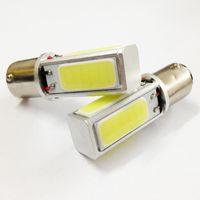 Wholesale High Power Led Ba15s - High Power COB Car Tail Light Headlamp 1156 Tail Bulb LED BA15S S25 P21W Lamp Pure White DC12V