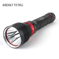 Wholesale Diving Flashing Lights - Brand New DX1 CREE XM-L XML XM-L2 15W 2000LM Aluminum Alloy Waterproof LED Diving Flashlight Underwater Lamp Torch Flash Light