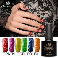 Wholesale-Saviland 1pcs knackende Art-Gel-Lack-Nagel-Kunst-Knistern-Farben-UV-LED-Gel-Nagellack-Zerbrechen-Gel-Lack-Frauen-Comstic