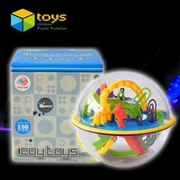 Wholesale Labyrinth Balls - Wholesale- 3D Ball Maze Perplexus Ball Puzzle Labyrinth Magical Intellect Maze Ball Intelligence Educational Toys for Children 158 Barriers