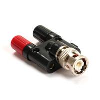 plugue de ligação venda por atacado-Freeshipping 20 pçs / lote Melhor Preço BNC Macho para Dual Binding Posts Banana Conector Plug Adapter Adapter 4mm Com Alta Qualidade