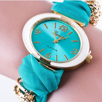 Wholesale Fabric Clothing Tags - newest factory wholesale janpan battery fashion candy colorful clothing strap cheap fashion watches for women lady girls free shipping