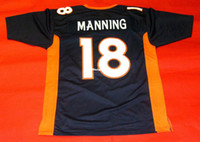 Pas cher rétro # 18 PEYTON MANNING CUSTOM JERSEY Hommes Couture Throwback Taille S-5XL Football maillots