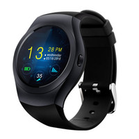 KS2 Smart Watch 2G GSM 1.3 pollici 240 * 240 pixel Touch Screen capacitivo rotondo MTK2502C Bluetooth 4.0 Hands Free per iPhone Design elegante
