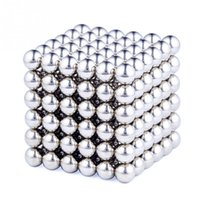 Wholesale Rubik Metal - 216 Pcs Set Cube Neodymium Magnet Balls 3mm Magnetic Balls for Building 2-D or 3-D Objects Cube Toys with 1 Metal Box #45