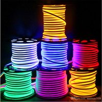 Wholesale Side Glow Led Strip - Newly LED strip lights waterproof IP65 flexible LED strip SMD2835 120 leds both side glowing high bright 8 colors neon light wholesale 50m+
