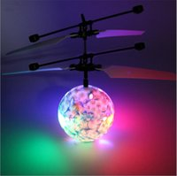 4 Estilo Hot Toy Epoch Air RC Flying Ball Drone Helicopter Ball Built-in Shinning Iluminação LED para crianças Adolescentes Flyers coloridos