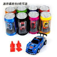 Wholesale Remote Control Racers - New Free Epacket 8 color Mini-Racer Remote Control Car Coke Can Mini RC Radio Remote Control Micro Racing 1:64 Car 8803