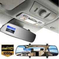 "Wholesale Dvr Recorder Loop - 2.7"" 1080P 140 Degree LCD HD Anti-shake Car DVR Camera Dash Cam Video Recorder Rearview Mirror Motion Detection Loop Recording DVR SUA_300"