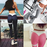 Wholesale Army Leggings - 2017 New Womens Ladies YOGA Gym Workout Sports Leggings Running Fitness Pants Stretch Trouser 8 Colors 4 Size