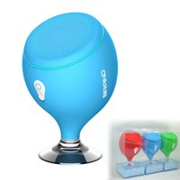 Wholesale Mp3 Player Holder - 2017 Mini Whale Tail Floating IPX6 Waterproof Shower Portable Bluetooth Hifi Speaker with Sucker Phone Holder Stands led Light MIS135
