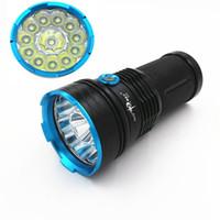 tragbare taschenlampen großhandel-25000 lumen SKYRAY König 12T6 LED blitzlampe 12x CREE XM-L T6 Taktische Tragbare Led Taschenlampe Jagd Lampe Taschenlampen Taschenlampe