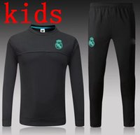 Wholesale High End Packaging - 16 17 18 kids high-end sportswear joint training package 2017 Real Madrid Black Purple the best quality Real Madrid training suit