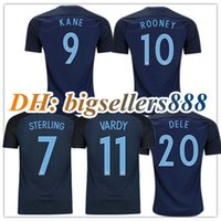 Wholesale England World Cup Jerseys - Top Thai quality 17 18 World Cup soccer Jersey england ROONEY home blue KANE STURRIDGE STERLING HENDERSON VARDY 2018 away football shirt