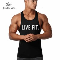 Seven Joe.Men's Tank Tops Muscle Stringer New Cotton Body Building и Fitness Pro Буквенная печать Жилеты Одежда