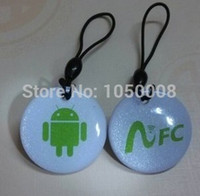 Venta al por mayor-10pcs / lot NFC etiqueta para Lumia Android Galaxy S4 Nexus Google Nokia BlackBerry Samsung Sony HTC LG RFID IC NDEF NTAG213 hf 13.56MHz