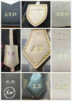 Wholesale Quality Letter Service - Amazing! Great Quality Brand Designer handbag customizing totes bag initials printed number bronzing word personal services