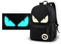 cartoon wallet pics - pics New Sports Designer Backpacks With USB Phones Charging Port Luminous Glowing Bags with Wallets