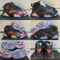 Wholesale Race Boots Size 13 - Cheap Air Retro 7 Doernbecher DB Basketball Shoes For Men Cheap Damien Red Black Gold And Black Bronze Sneakers Size US 8-13