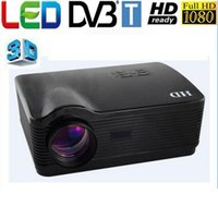 Оптово-High Definition 5500Lumens WXGA 1280x800 Mini ЦВМ Мультимедиа 1080P HD 3D видео HDMI USB LCD LED проектор КТВ А.В.
