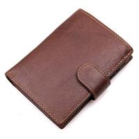 Wholesale Mens Rfid Wallets - A+++ Male Men Genuine Leather Luxury Men Short Wallet Bifold Casual Retro Short Design Credit Card Holder Pocket RFID Purse Mens Wallets
