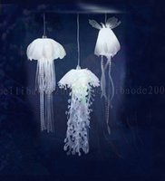 Wholesale jellyfish lighting - BE56 Modern Simple Creative PVC Jellyfish Chandelier Restaurant Bedroom Living Room Cafe Wedding Project Hanging Lights Pendant Lamp