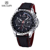 Wholesale MEGIR Sports Brand Quartz Mens Watches Top Brand Luxury Quartz watch Clock Leather Strap Male Wristwatch Relogio Masculino