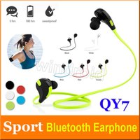 Wholesale iphone copied resale online - Sport Bluetooth Headphone Copy QY7 Wireless Stereo Headset Mini Bluetooth Earphone with Mic Handsfree for iPhone Plus with Retail Box