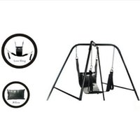 Sexo de cuero Love Swing Black Fetish Heavy Adult Swing Sling Restrictions D Anillos Sex Swing Chair Sex Furnitures