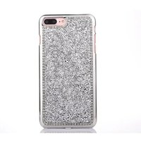 Lujo Bling Glitter Crystal Rhinestone Diamond suave TPU caso para iPhone 5 7 6 6 S Plus 4.7 5.5 CellPhone cubierta Capa