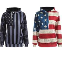 streetwear pyrex venda por atacado-Impressão 3D bandeira dos EUA moletom com capuz hip hop streetwear Moda legal kanye west tyga últimos reis pirex hba diamante mulheres homens
